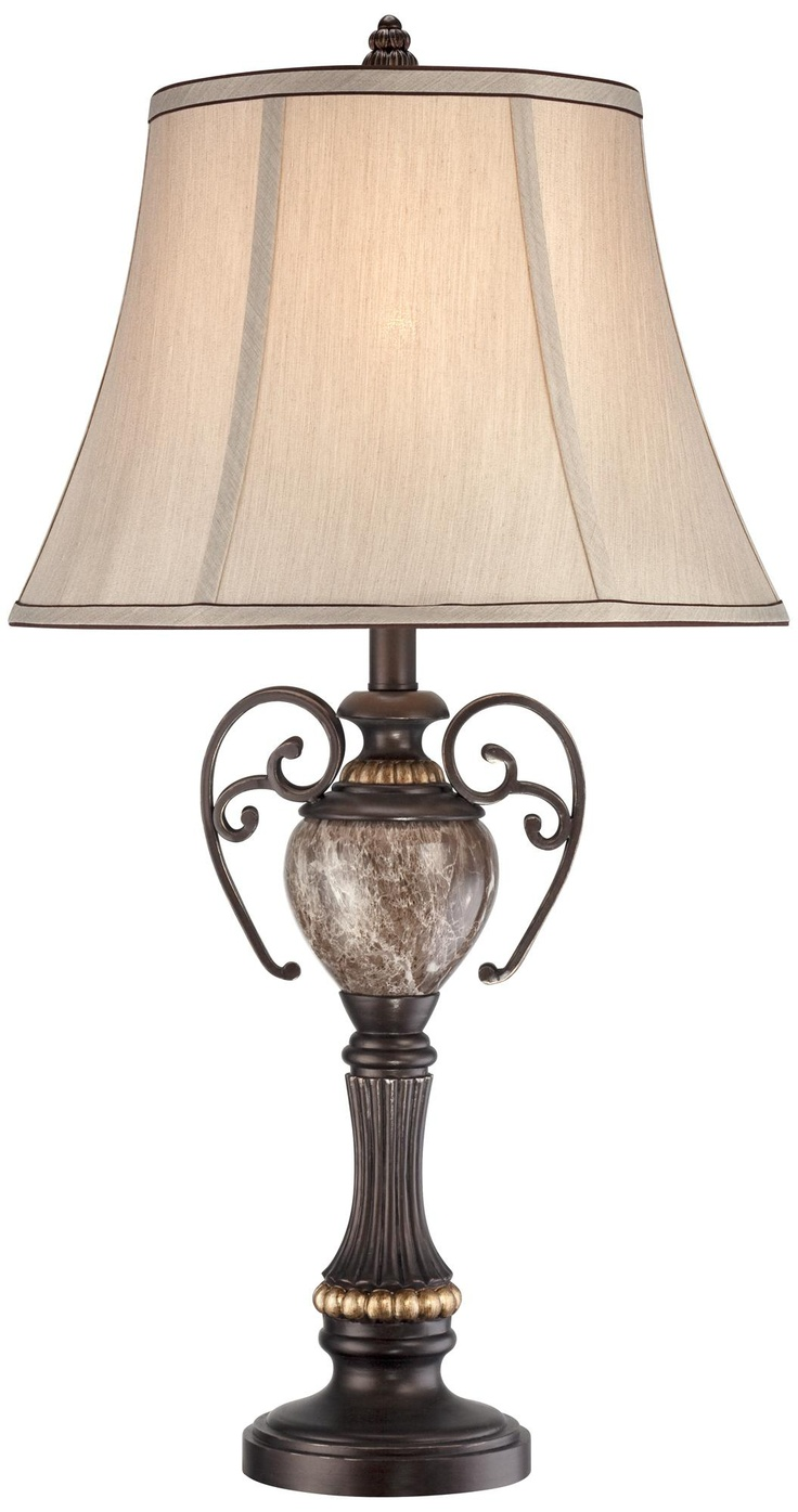 Kathy Ireland Belvedere Manor Bronze Table Lamp T3563