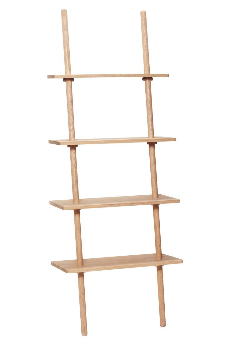 Oak display ladder. The leaning function creates a lightness to the furniture design. Item number: 880410 - Designed by Hübsch