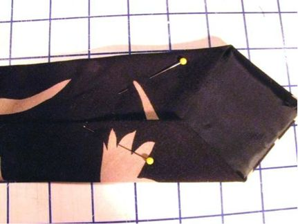 Pining the tie edges in place