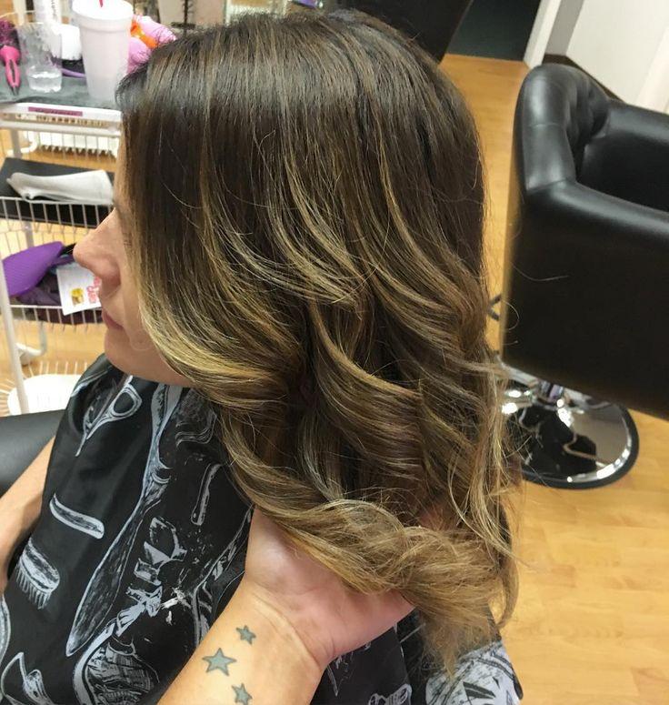 калифорнийское мелирование на темные короткие волосы