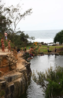 Rock jumping in Angourie, Australia. One of my favorite places in the world!