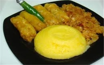 Romanian stuffed cabbage with Romanian recipe of polenta
