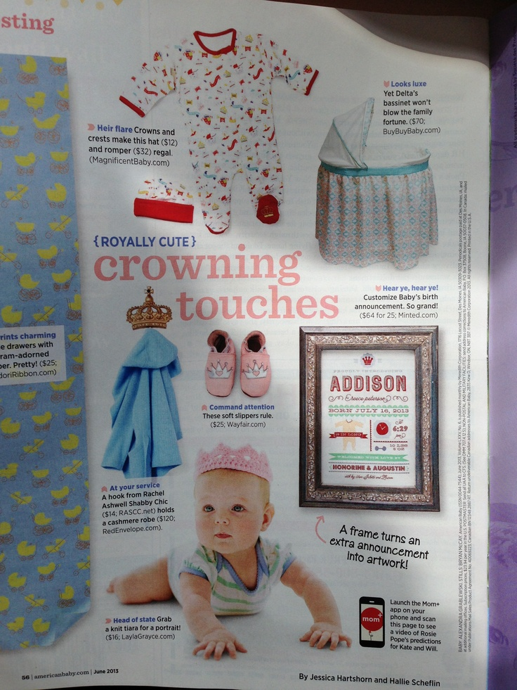 Magnificent Baby features in American Baby June 2013 issue!