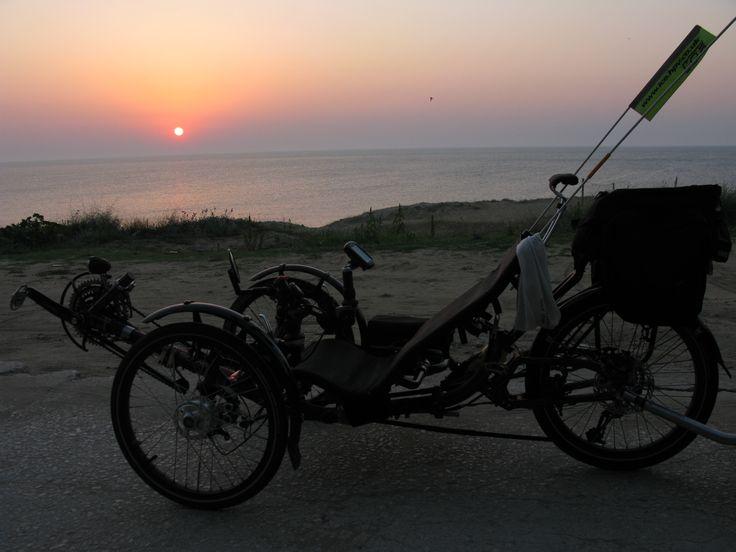 Mit Schwarzen Meer in einer Flasche zurück nach Hause, mit liegetrike, liegerad, liegedreirad, liegende fahrrad