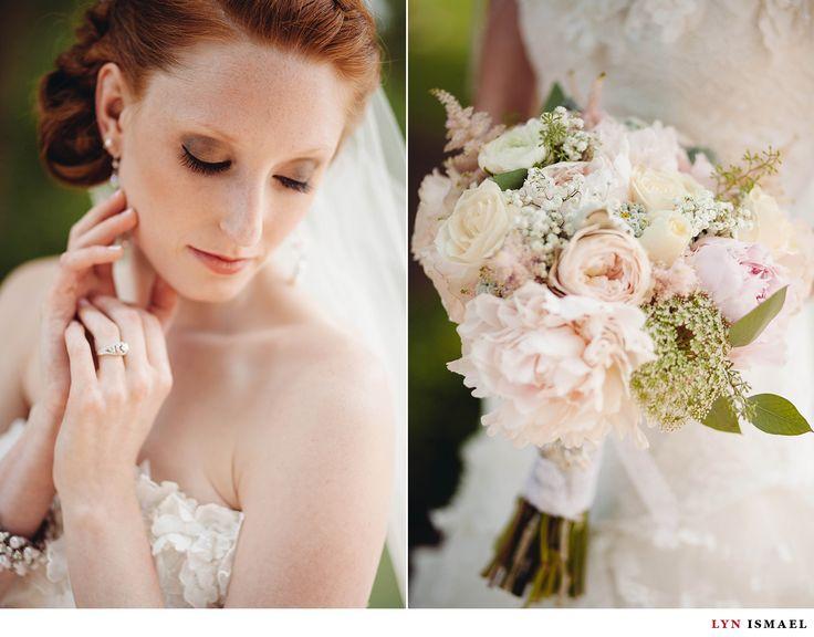 Nithridge Estate Wedding | Abbey and Matt | Redhead bride | Makeup idea | pink and white bridal bouquet | Flowers More Often | Ayr | Wedding Photography