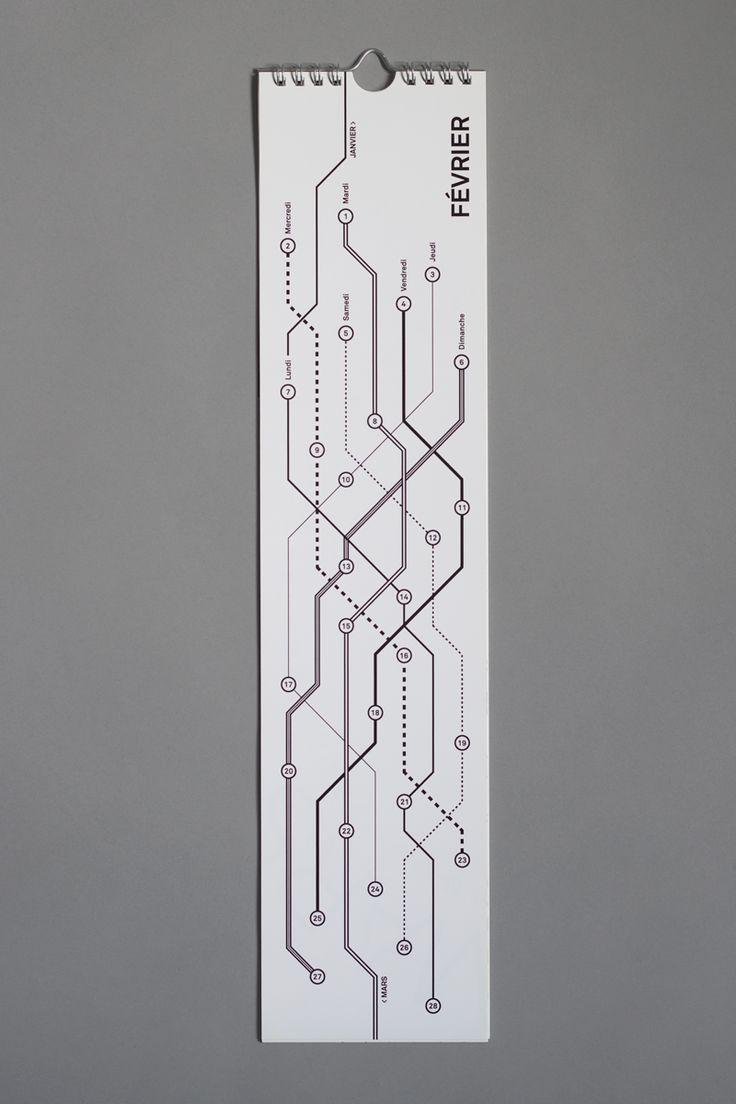 Yan Vuillème - Typographic Calendar, Metro plan