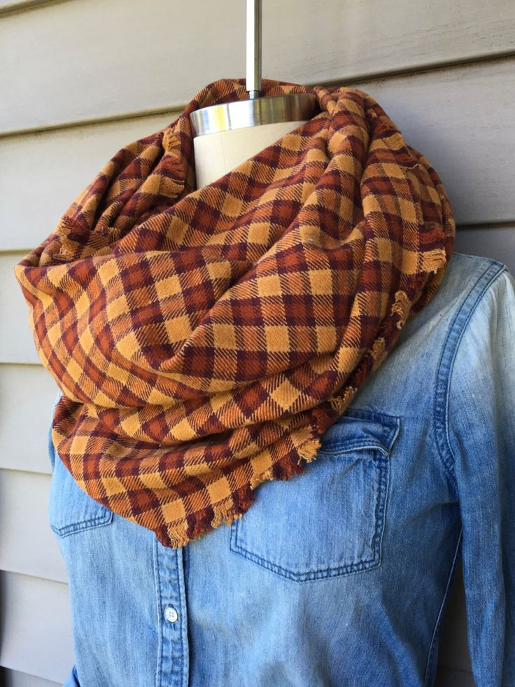 Maroon & Orange Plaid Flannel Blanket Scarf by MaeganJeanette on Etsy https://www.etsy.com/listing/262009815/maroon-orange-plaid-flannel-blanket
