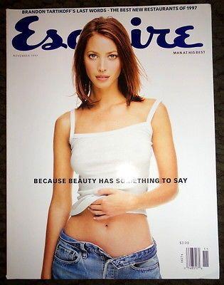 Esquire 11/1997 Christy Turlington Larry Bird Andrew Golota Theloponius Monk