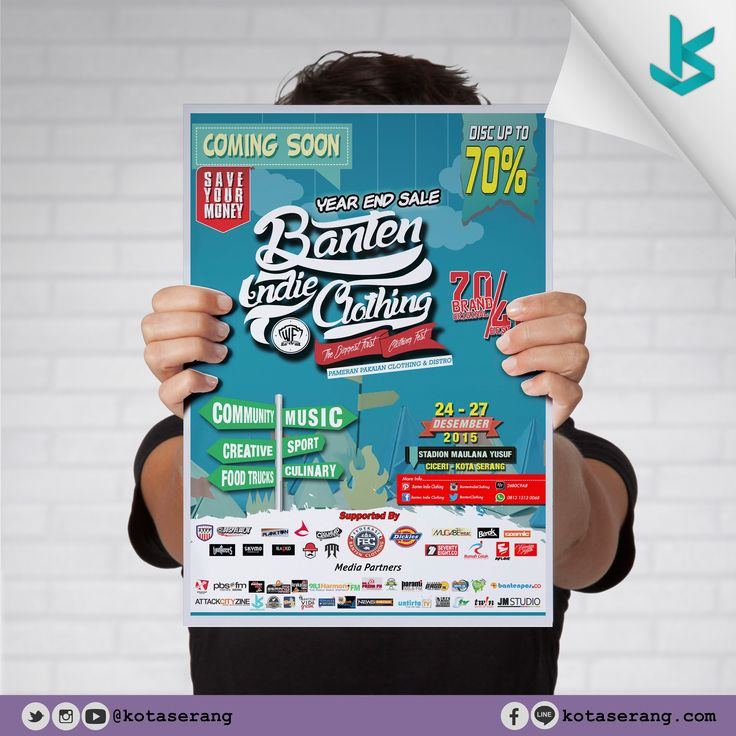 Poster Banten Indie Clothing 2015  Read More on http://galeri.kotaserang.com/2015/11/poster-banten-indie-clothing-2015.html