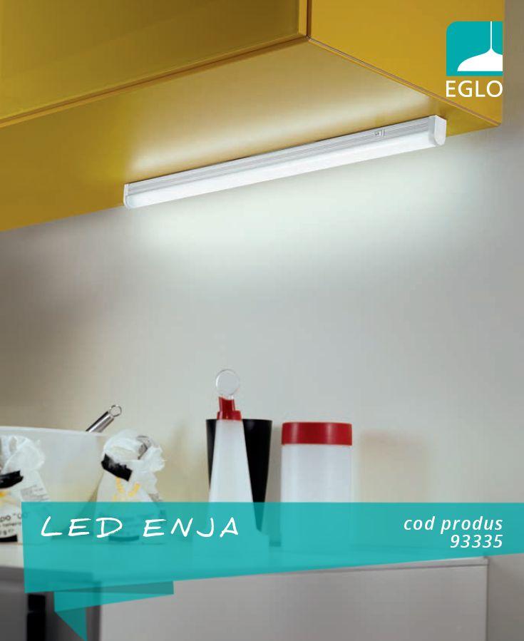 LED-urile sunt sursele de lumină ideale pentru bucătărie, oferind posibilitatea de a fi montate chiar și pe mobilă. EGLO, kitchen lighting, kitchen ideas.