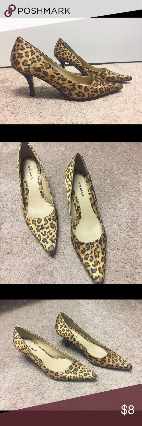 Cheetah Heels GO MAX cheetah heels size 6 Shoes Heels