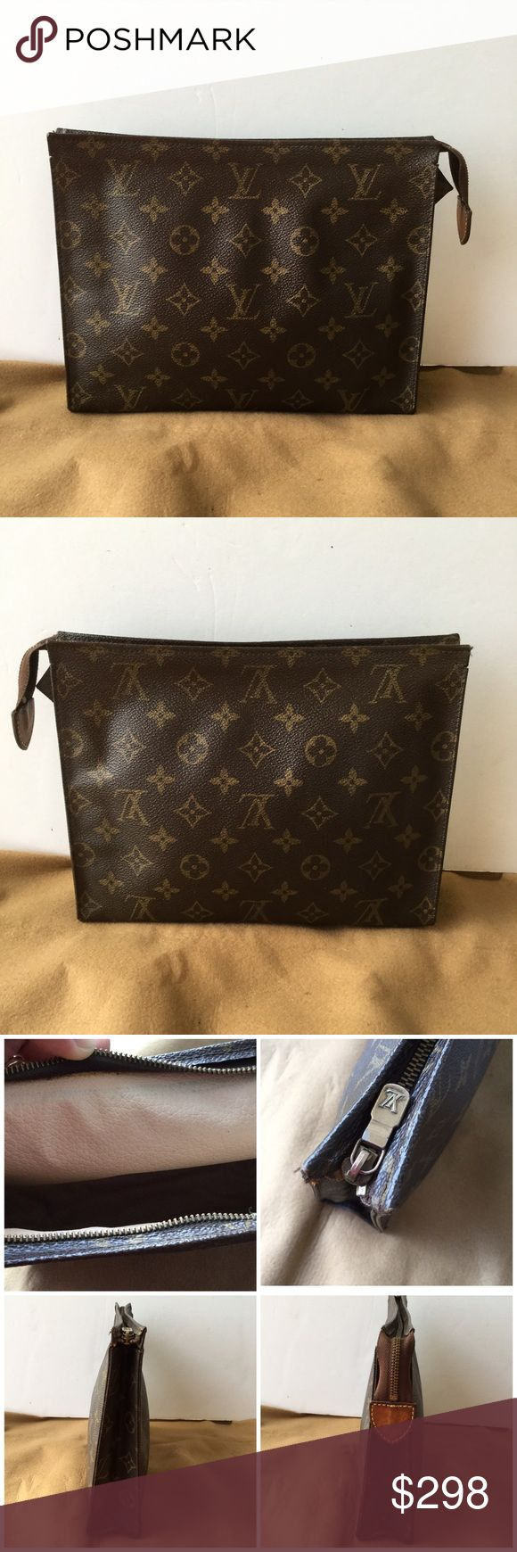 Louis Vuitton Toilet 26 Cosmetic Pouch 100 Authentic Made