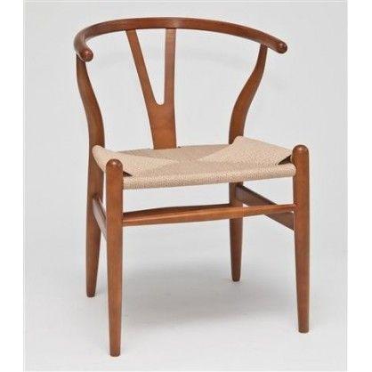 Krzesło Wicker jasnobrazowe