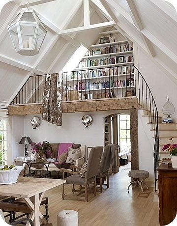 What a great reading loft!
