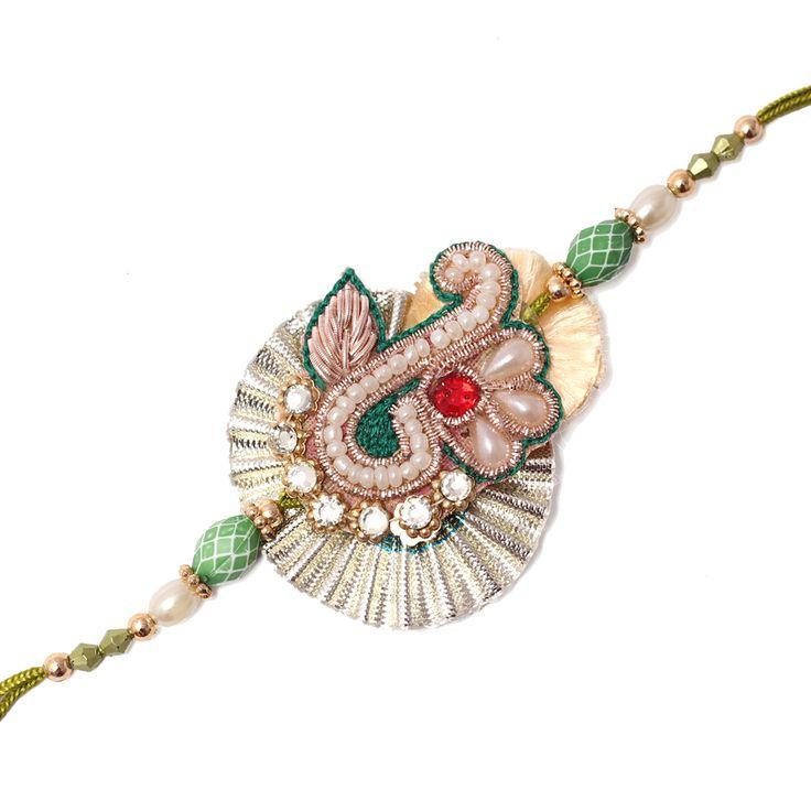 Wow Look Designed Zari, Gota Rakhi