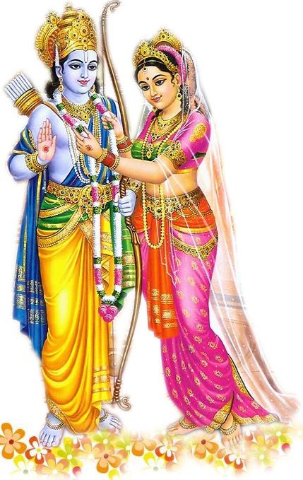 Sita garlands Rama. Epic Love Blogs: Tales of Two Couples. LINK: https://sites.google.com/site/epicloveblogs/
