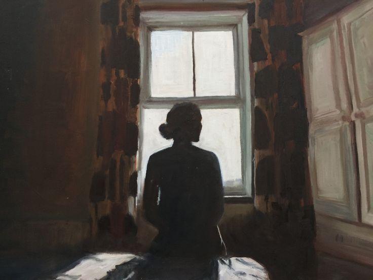 Ella Webber - Figure in contre jour - oil paint.