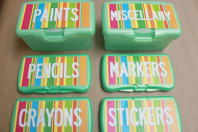Free printable lables for wipes containers.