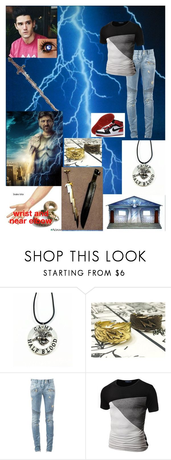 """""""Heath getting bit by two poisonous snakes"""" by bumble-bucky ❤ liked on Polyvore featuring S.W.O.R.D., Balmain, Doublju and NIKE"""