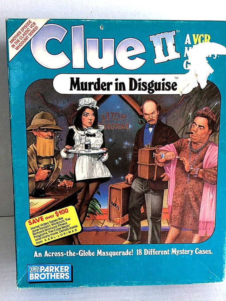Clue II Murder In Disguise VCR Mystery Game Sealed Tape VHS Parker Brothers #ParkerBrothers