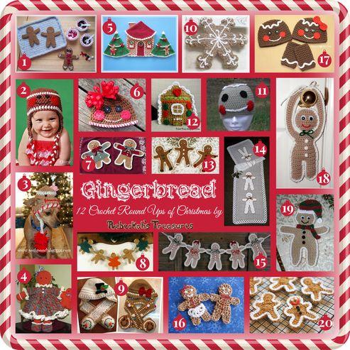 Gingerbread - 12 Crochet Round Ups of Christmas via @beckastreasures
