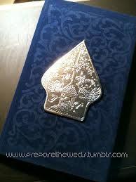 undangan bludru - Indonesian invitation