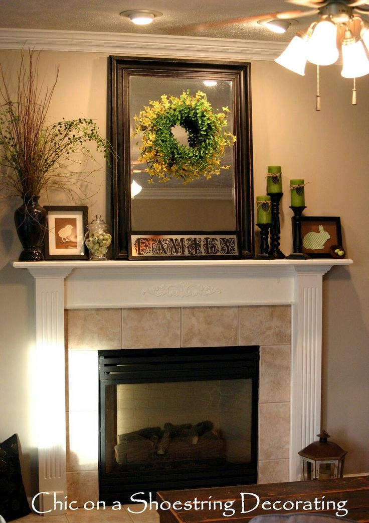 Mantel Decorating Ideas Decorating Ideas Great Living Room Design Ideas  Using Easter Wreath Fireplace Mantel Decoration Including Ceiling Fan With  Lamp And ...