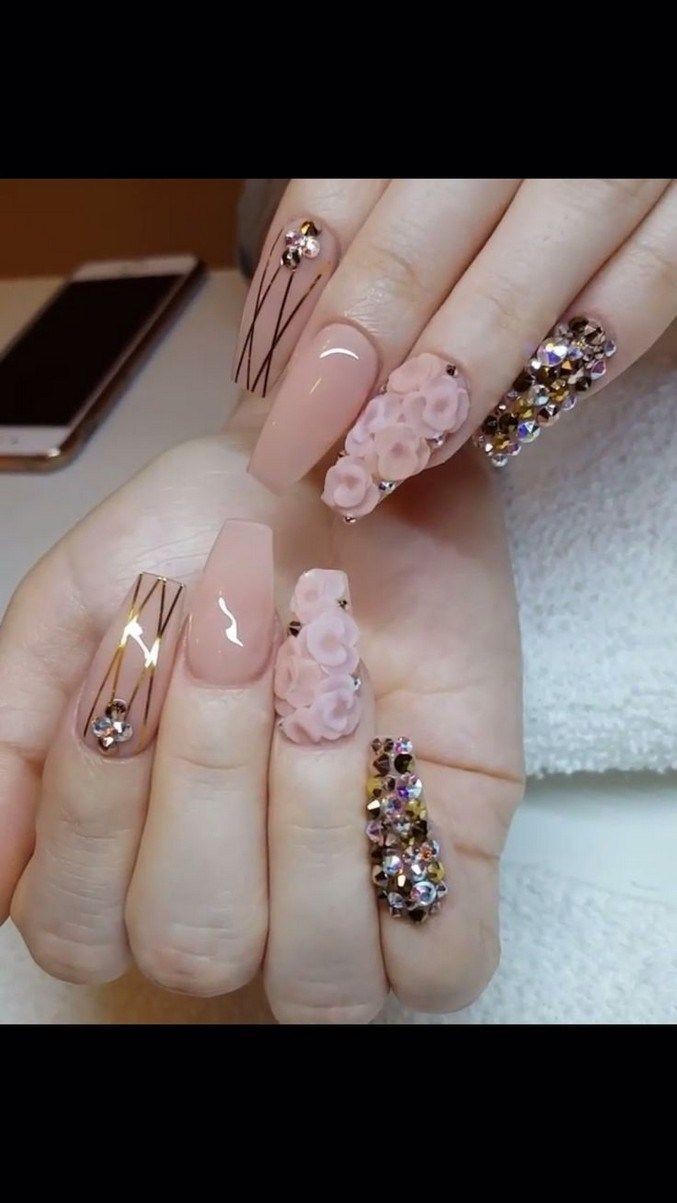 55 Most Wonderful And Convenient Coffin Nail Designs 2019 40