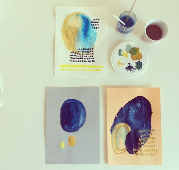 coffee and painting. by pernilleE
