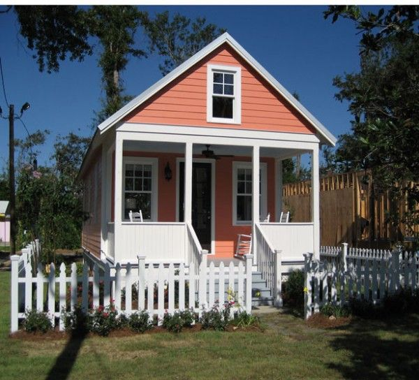 The Katrina Cottage was designed as an alternative to FEMA trailers. At 544 sq. ft. it is safe, affordable and quickly built. Lowe's sells material packages for built-it-yourself. Go to http://www.katrinacottages.com/home/mission.html for a fuller description.