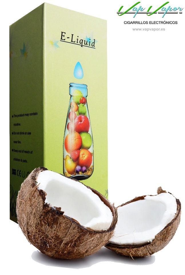 e-liquid Coco  http://www.vapvapor.es/liquido-frutas-cigarrillo-electronico  Líquidos para cigarrillos electrónicos de la marca e-liquid. Nuestra marca e-liquid se caracteriza por su gran variedad de aromas y sabores.     - e-liquid sabor Coco (afrutado)     - Categoría: frutas