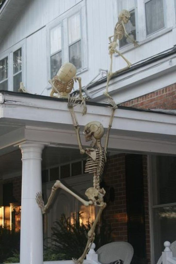 Indoor Outdoor Skeleton Decorations Ideas Pinterest And