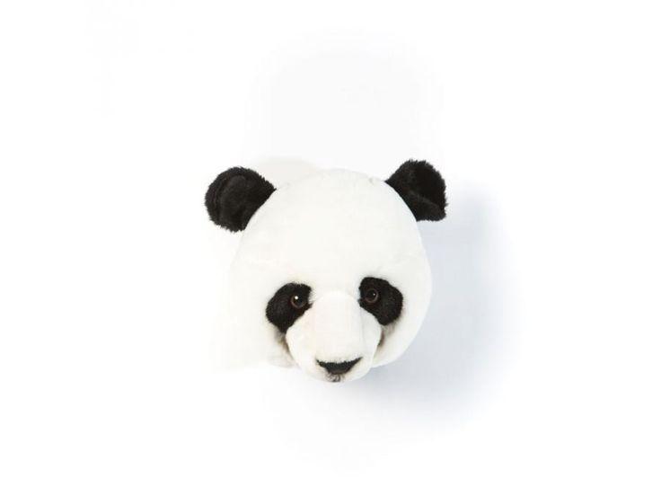 Bibib and co -  Trophée en peluche Thomas le panda #bibibandco #panda #trophée #tête #peluches  #animals #decoration #idéesdéco