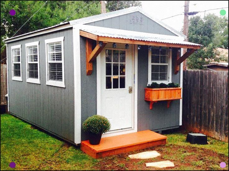 Backyard Office. Derksen Portable Building Finished Out ...