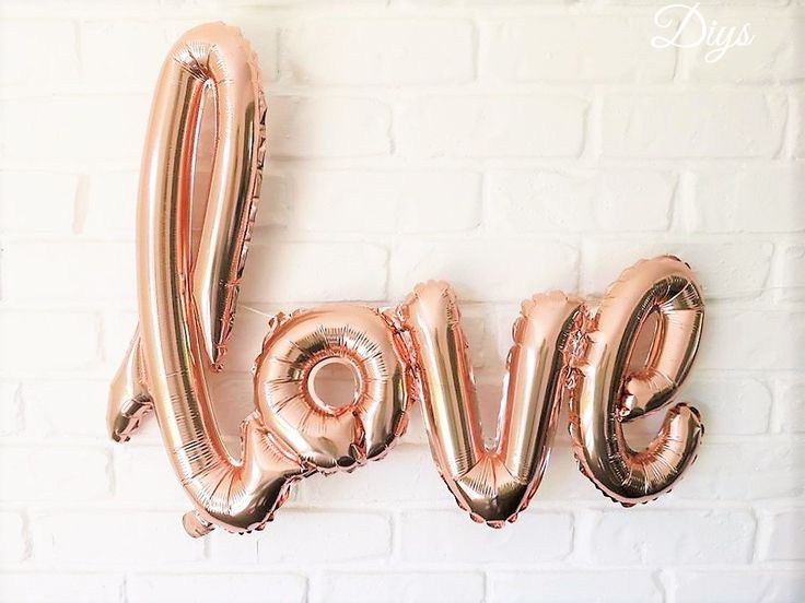 LOVE SCRIPT BALLOON 76cm - Rose Gold love Air Filled Foil Balloon Banner (102cm / 40 Inches) by DoneInYourStyle on Etsy