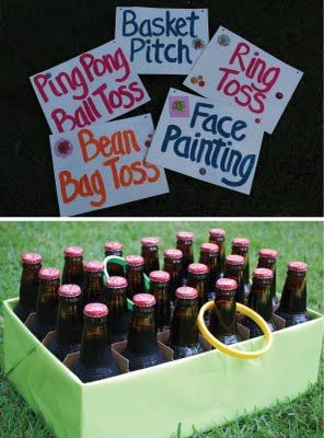 carnival games. Ideas for back to school fall festival.