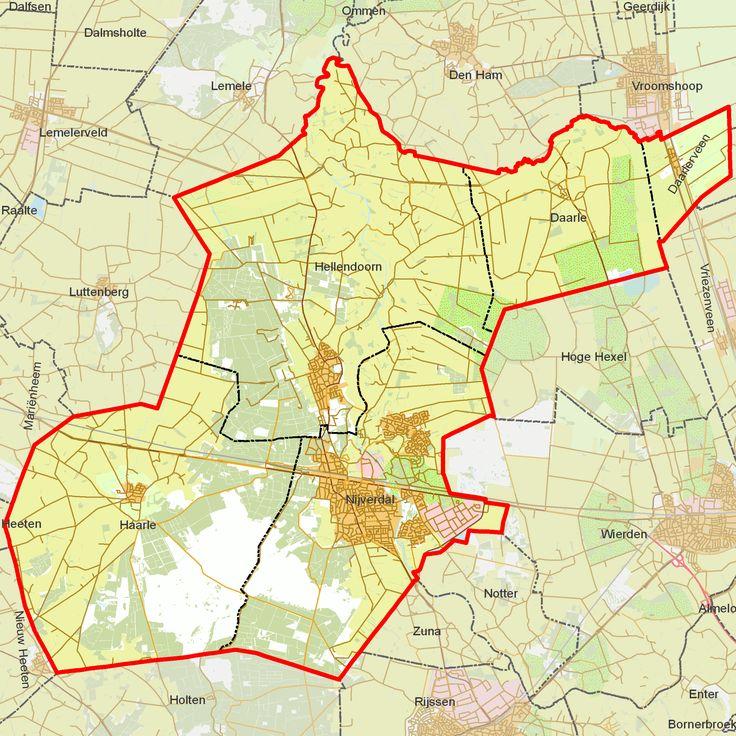 De gemeente Hellendoorn Het grootste dorp in de gemeente Hellendoorn is Nijverdal. De overige dorpen zijn Hulsen, Haarle, Daarlerveen en Daarle. De sociale kernen Eelen en Rhaan, Hankate, Marle en Egede maken de gemeente compleet.