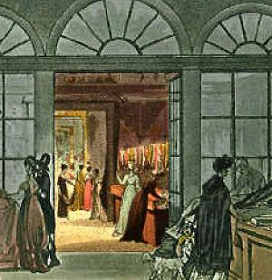 Regency England shopping arcades exchanges and bazaars, Harding Howell, one of the forerunners of the department store. Located on Pall Mall.