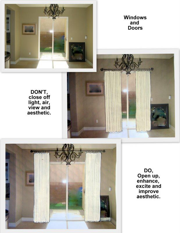 How to Hang Curtain Rod Over Sliding Door