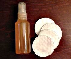 Apple Cider Vinegar Toner - blogger claims that it has cleared away acne, reduced pore size, and made her skin look better (equal parts water and ACV)