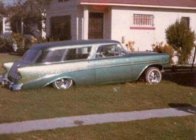 1956 Chevy Nomad Wagon Lowrider Cars Custom Cars Cool Old Cars