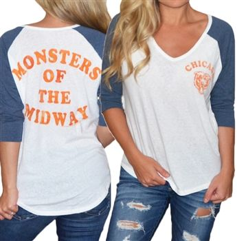 Vintage Chicago Bears Raglan- Monsters of the Midway