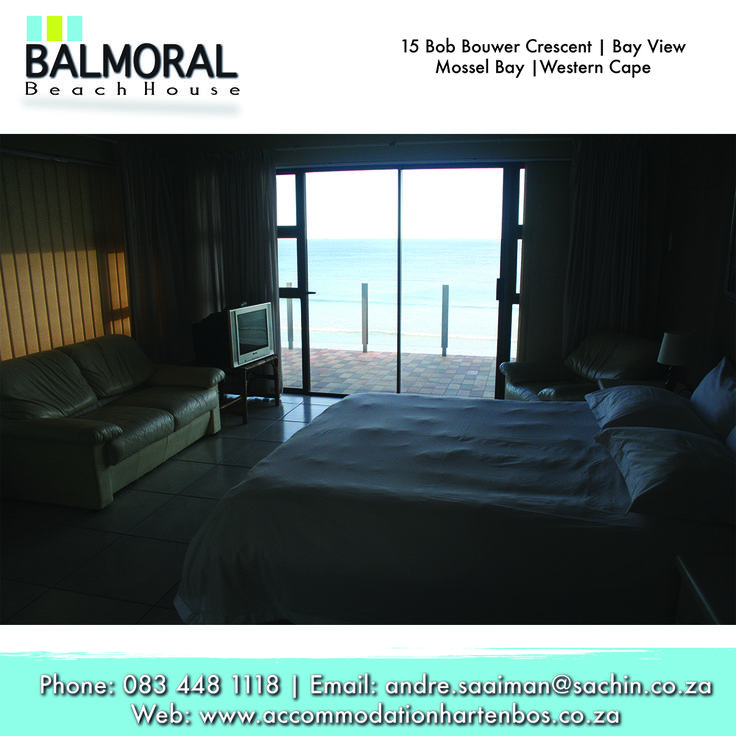 Every room at Balmoral Beach House has a beautiful sea view, and that's way you must come and stay here. Call us now: 083 448 1118 E-Mail: andre.saaiman@sachin.co.za #rooms #accommodation #Hartenbos