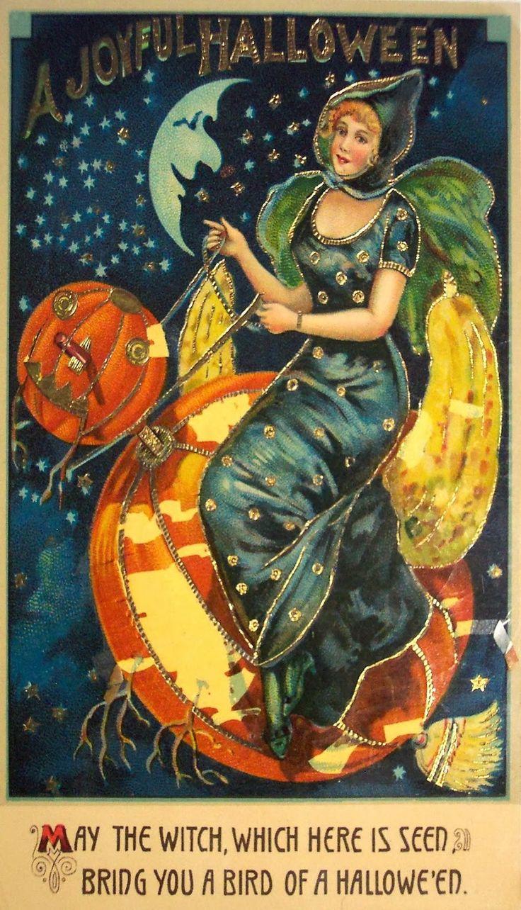 vintage everyday vintage halloween witch postcards c - Vintage Halloween Witches