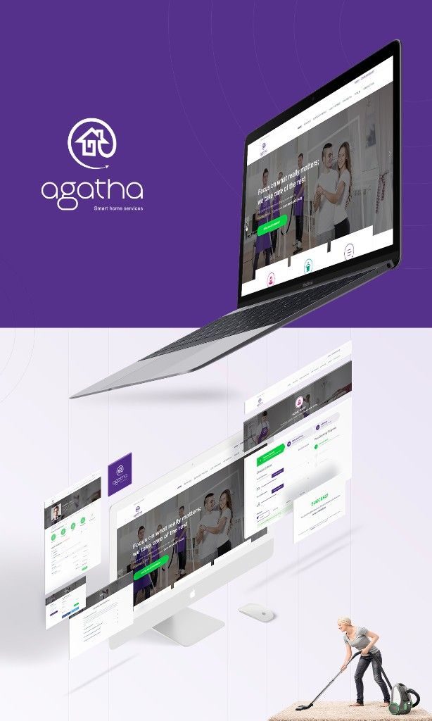 Agatha Smart Home Service #mockup #apple