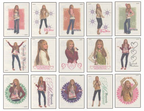 """Disney Hannah Montana Tattoos - Set of 15 by Hannah Montana. $4.84. These tempoary tattoos where made for vending machines. Unlike the bubble gum style machines these are known as """"flat vending"""" and usually sell for between .50¢ to $1.00. - These are large tattoos, (nearly 4 inches tall) and could look huge on a small child. Directions: 1. Skin should be clean and free of oils and make-up. 2. Remove clear protective sheet. 3. Press tattoo (face down) against body. 4 H..."""
