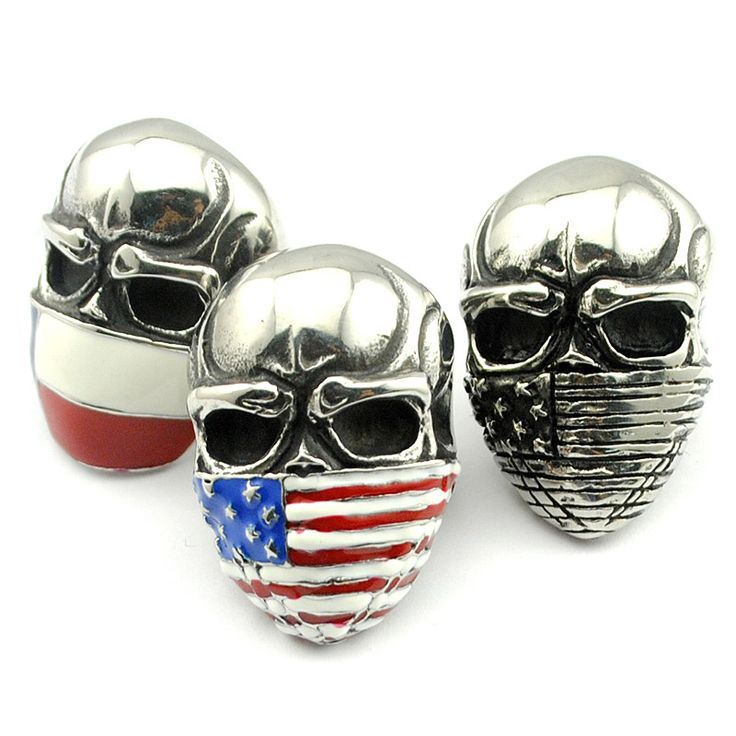 American Flag Stainless Steel Skull Ring //Price: $14.69 & FREE Shipping //     #skull #skullinspiration #skullobsession #skulls