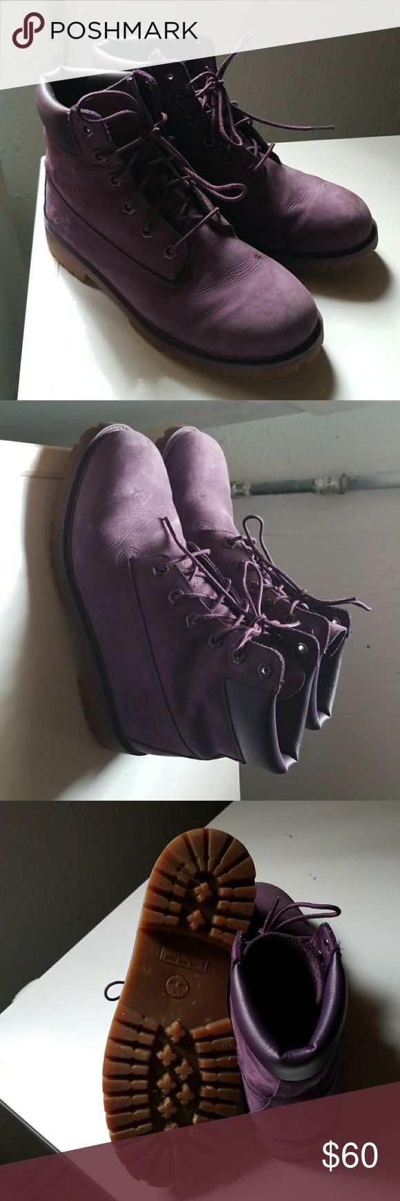 Purple Timberlands Youth Purple timberlands, well taken care of, in need of a new home. **Waterproof** Timberland Shoes Boots