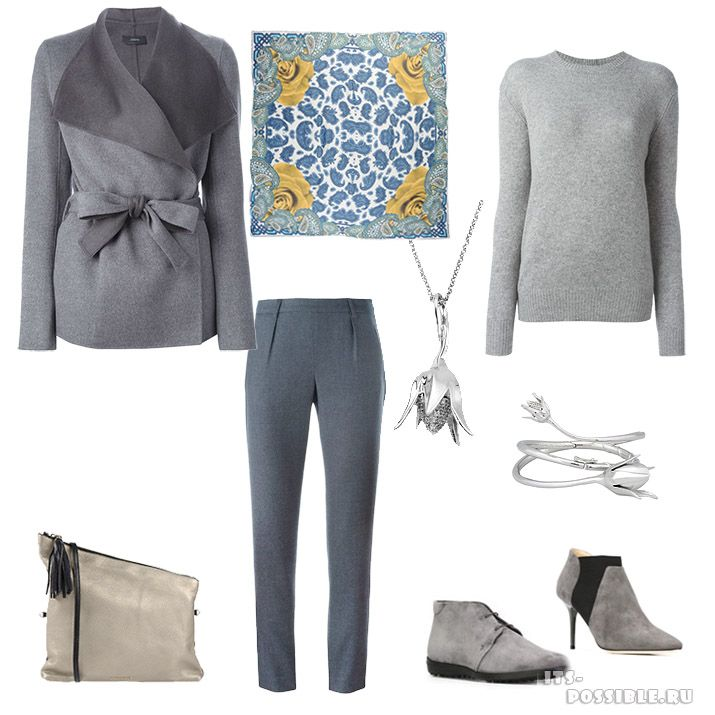 Soft Classic gray winter clothes for women