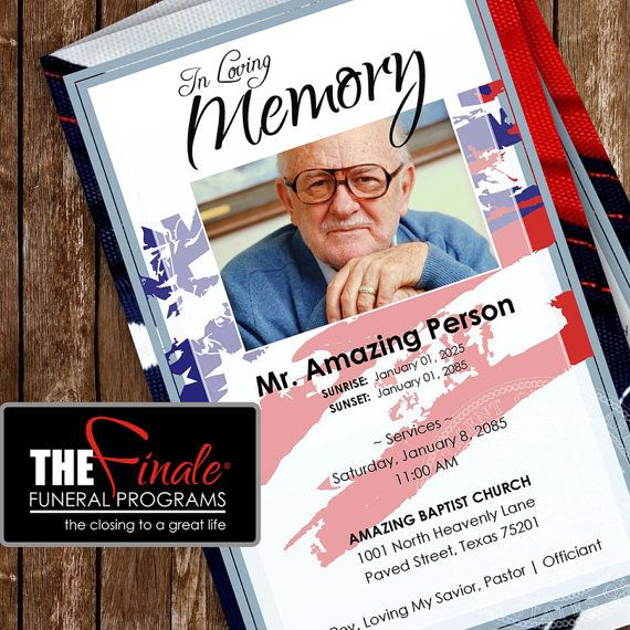 165 Best Funeral Program Templates Images On Pinterest Collage